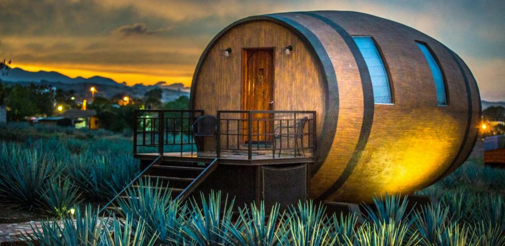 Dormir dans une baril de Tequila au Mexique