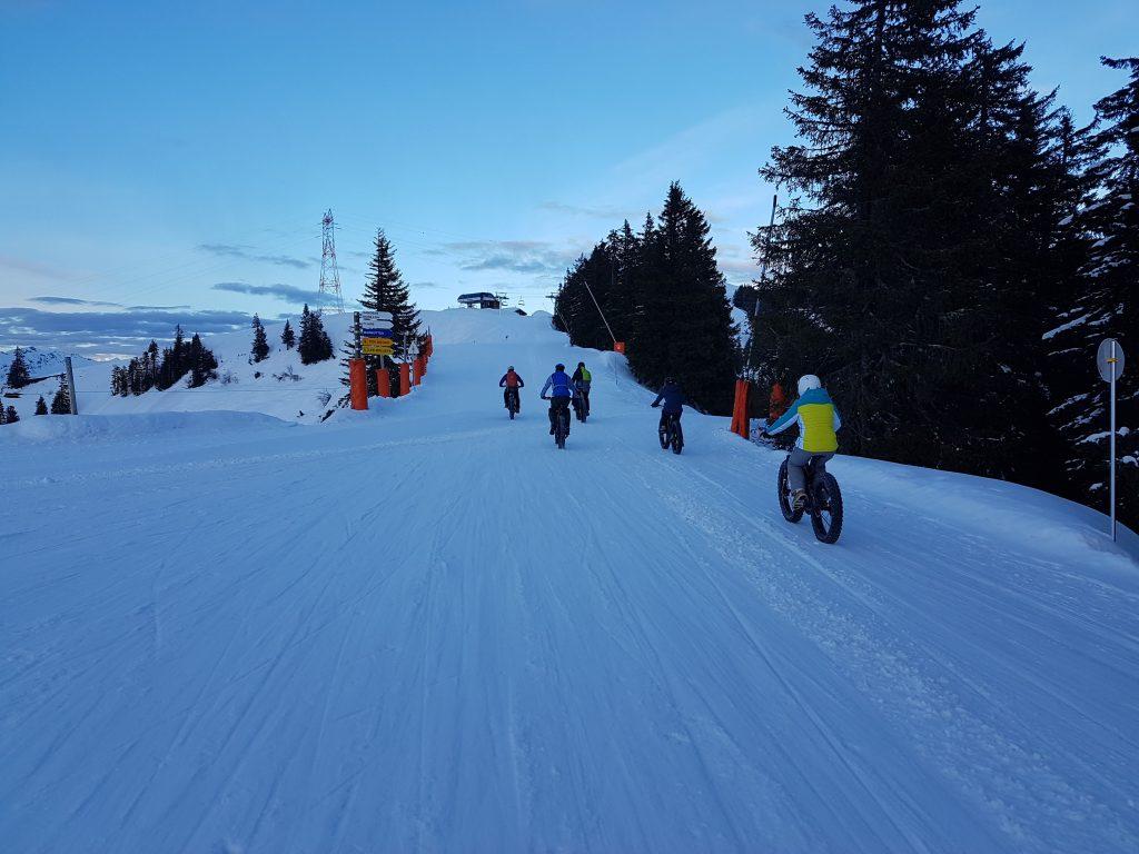 Fatbike sur la neige aux Carroz