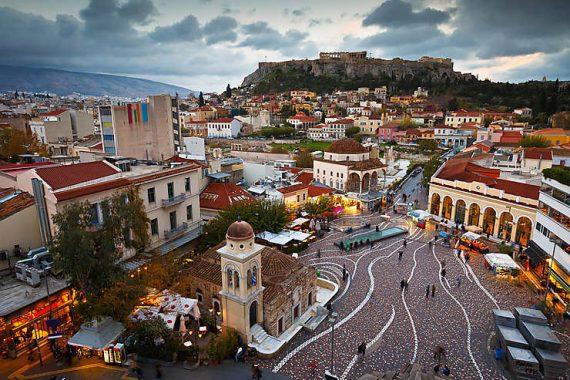 Vue d'Athène et de l'Acropole