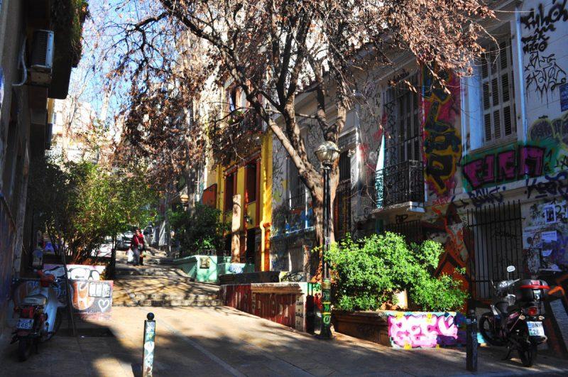 Rue d'Exarchia à Athènes