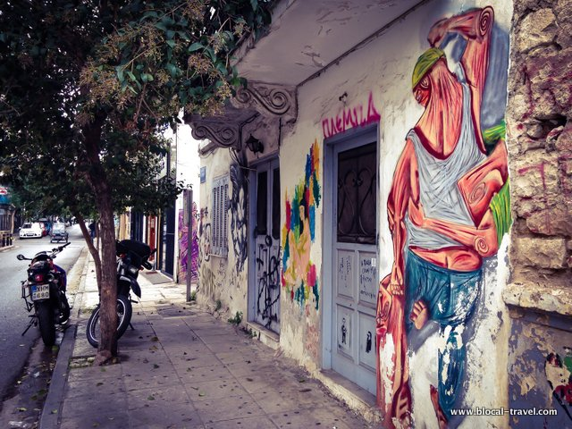 Street art dans le quartier de Metaxourgeio