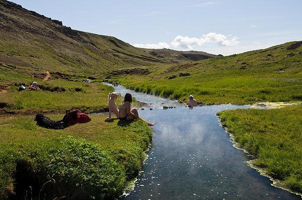 Hveragerði Islande baignade insolite