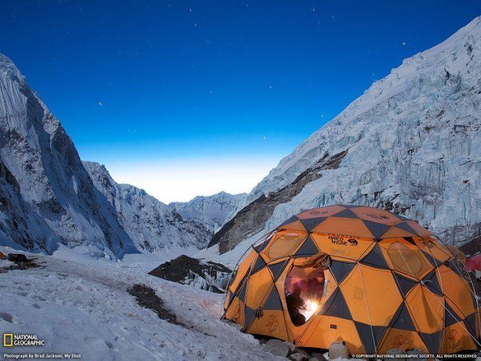 Camping sur le mont evrest