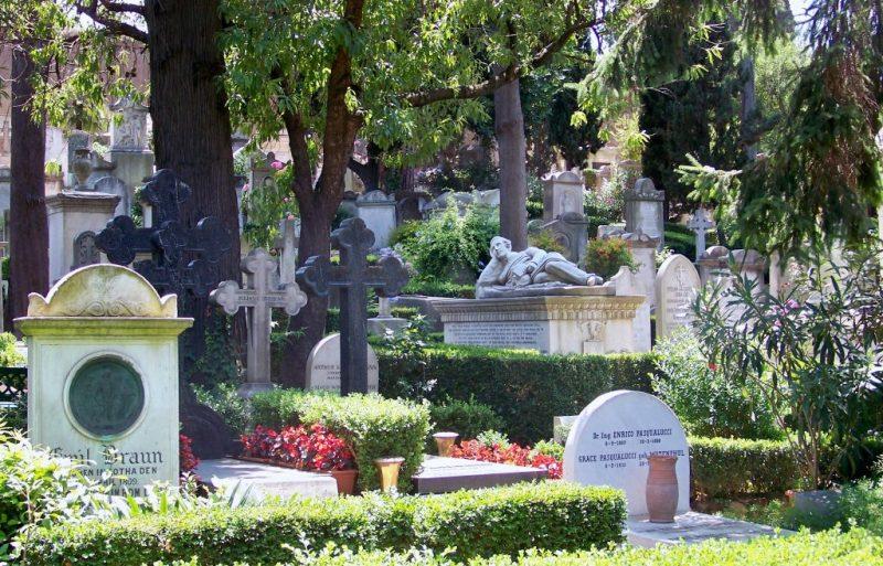 Un cimetière verdoyant