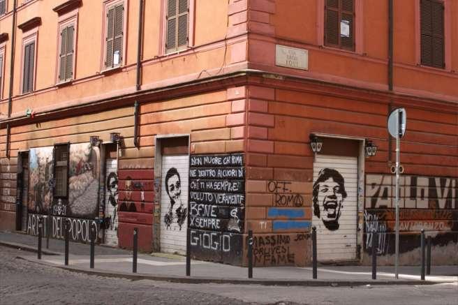 Une des nombreuses pièces de street art dans le quartier de San Lorenzo