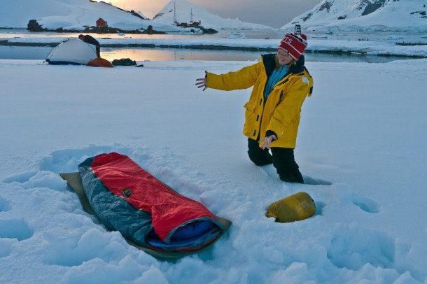 camping en antartique