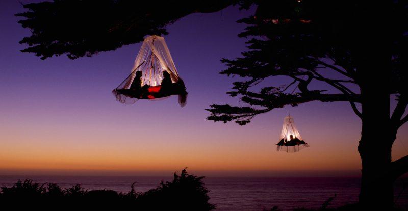 Tree camping en camping dangeureux