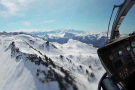 Balade en hélicoptère au Mont Blanc