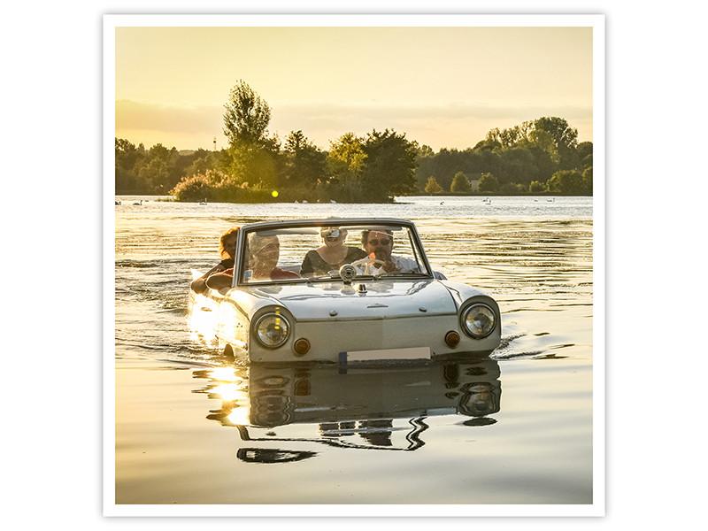 Balade sur le lac du Bourget en vehicule amphibie