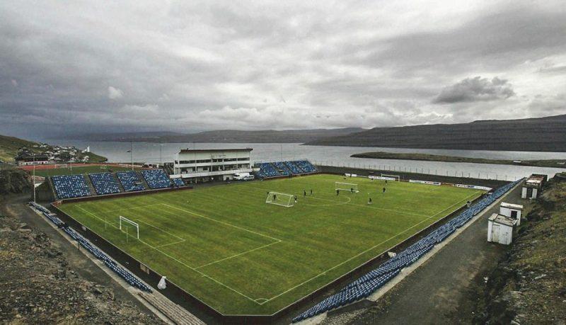 Stade Svangaskard aux Iles Feroё