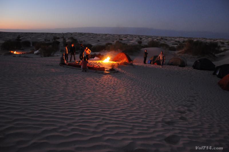 dormir dans le désert du Sahara