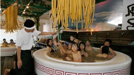 Spa au ramen au Japon