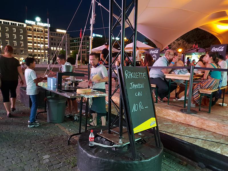 stand à raclette à Genève