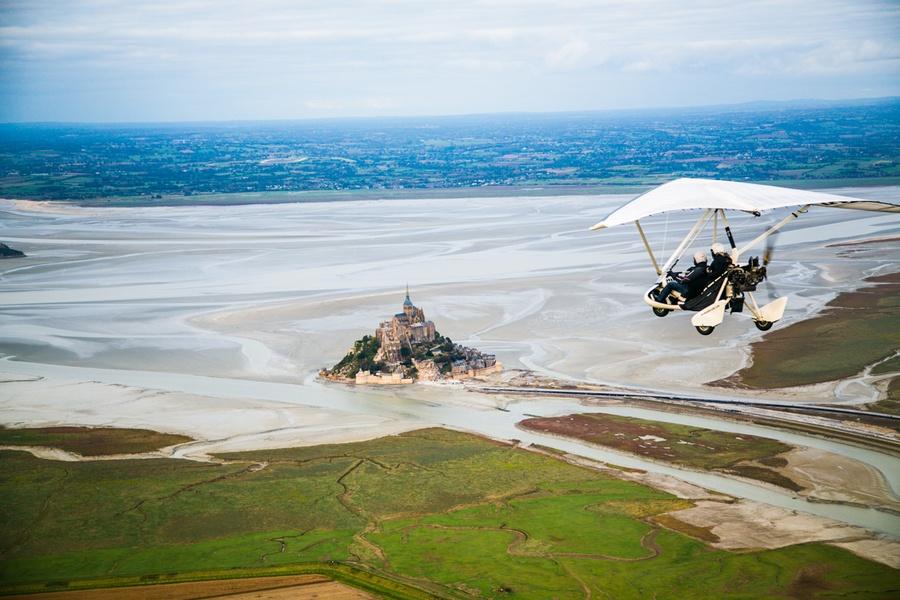 mont Saint Michel en ULM