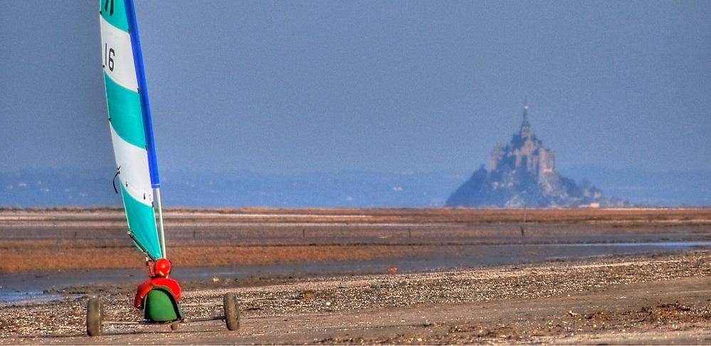 char à voile mont Saint Michel