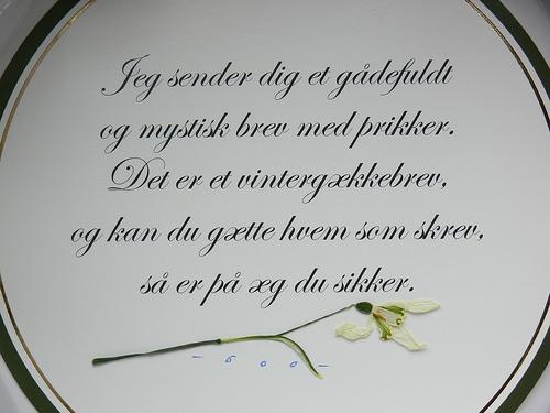 gaekkebrev pour la saint valentin