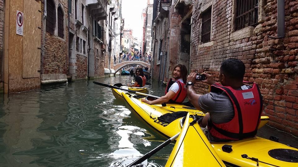 balade en canoe kayak à Venise
