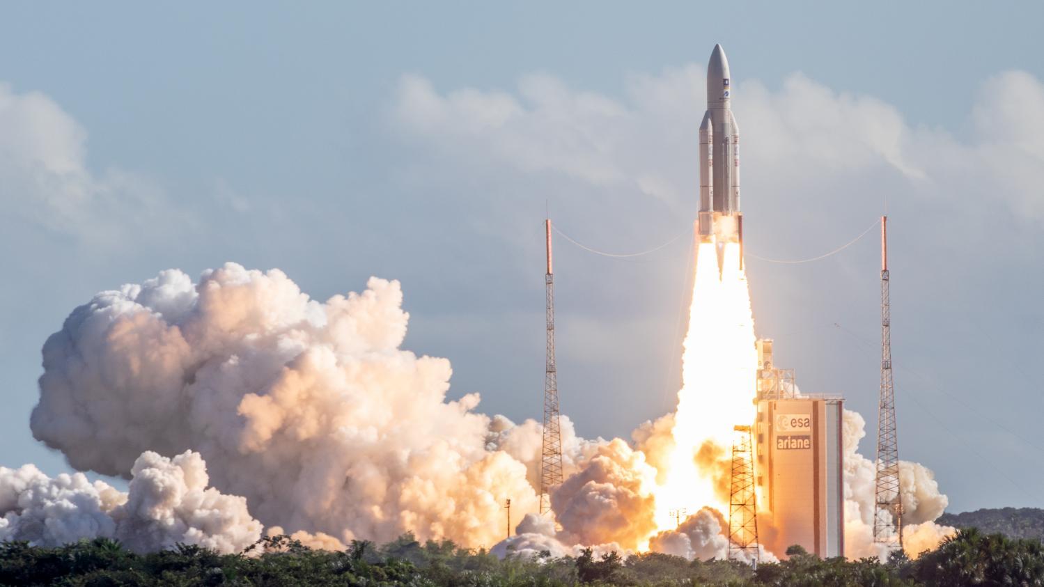 décollage de la fusée ariane