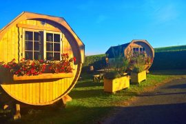 hébergement tonneau camping Beaujolais