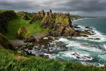 dunluce castle en Irlande du Nord