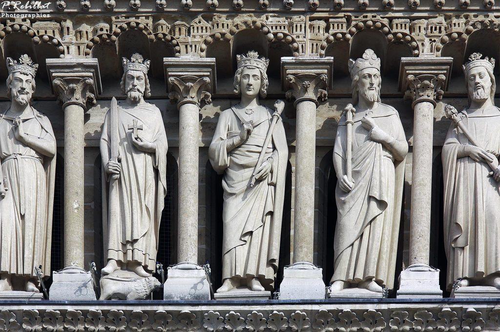 La galerie des rois à Notre-Dame avec Viollet-le-Duc
