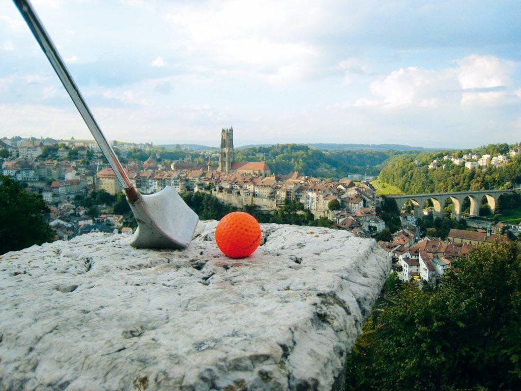 Golf urbain à Fribourg en Suisse