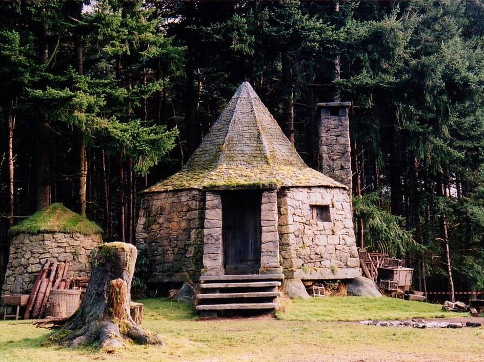 Cabane d'Hagrid dans le film Harry Potter