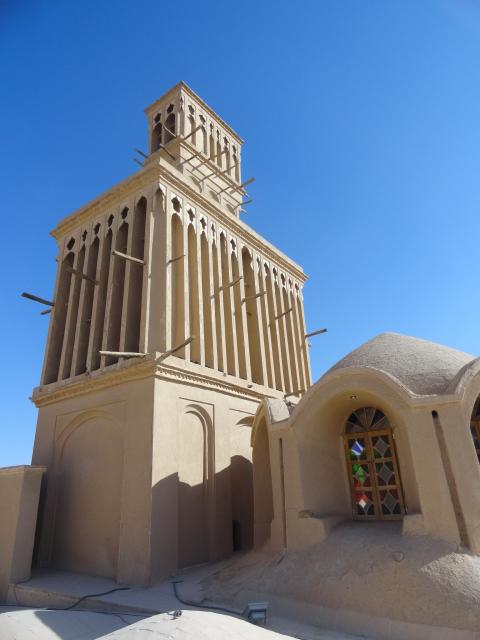 tour du vent à Yazd