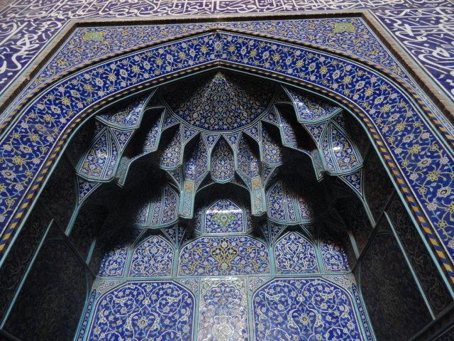 Les carreaux de faïence de la mosquée d'Ispahan