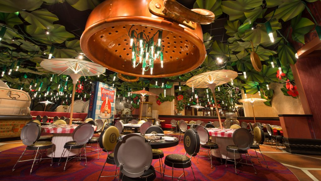 L'intérieur du bistrot chez Rémy dans l'univers de Ratatouille