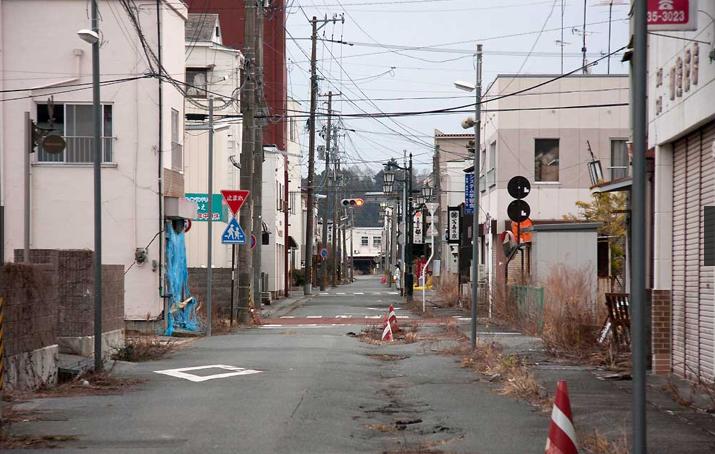 La ville déserte de Fukushima au Japon