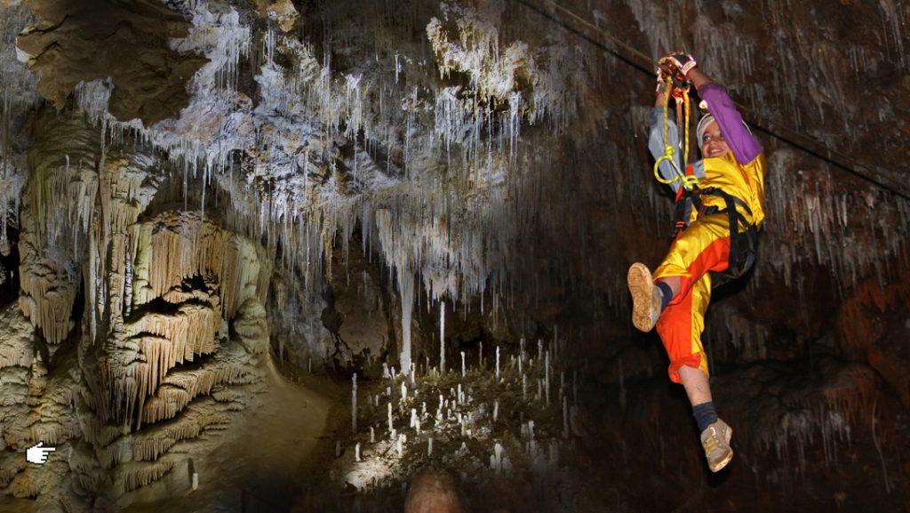 Spéléopark à la grotte de Clamouse
