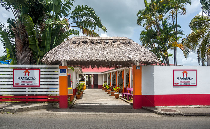 Le restaurant babaorum en Martinique