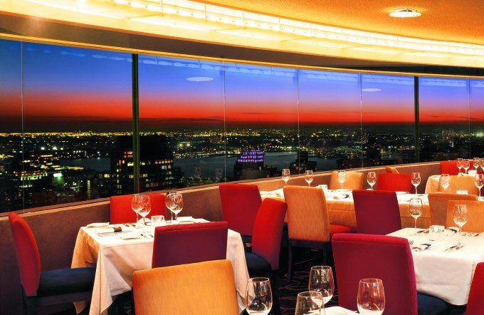 L'hôtel restaurant The View avec vue sur toute la ville de NYC
