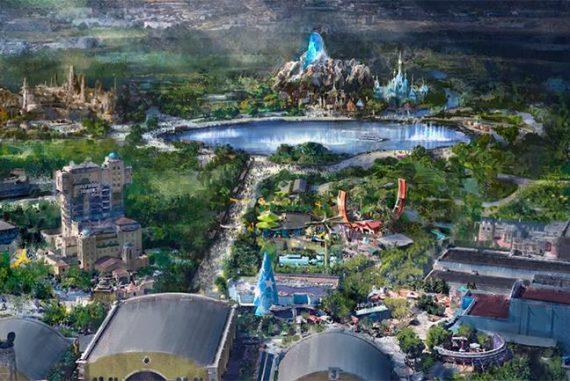 Plan nouvelles zones Marvel, Star Wars et Reine des neiges Disneyland Paris