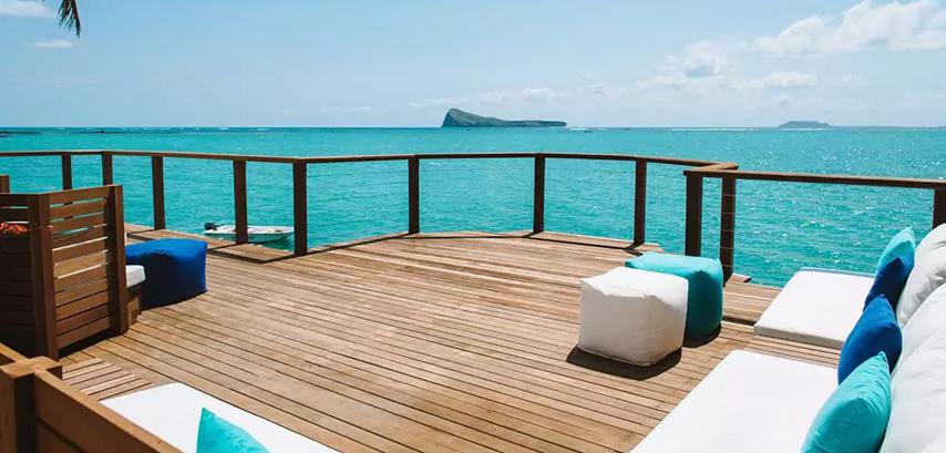 La terrasse du Paradise Cove Boutique Hotel