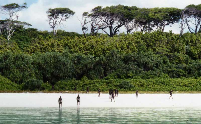 Île des Sentinelles dans le gofle du Bengale