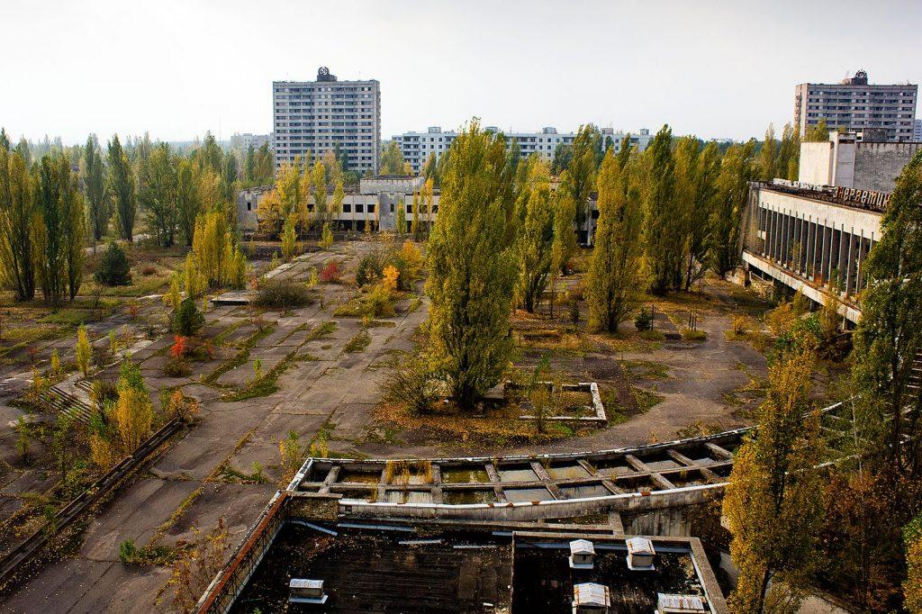 La ville de Pripyat après la catastrophe nucléaire de Tchernobyl