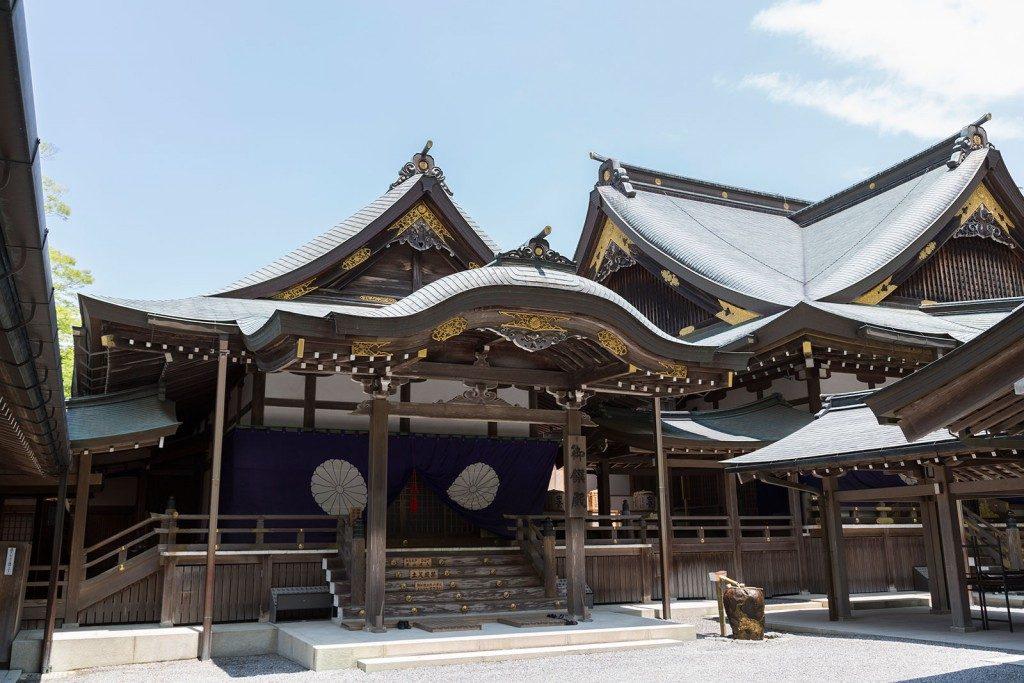 Le plus sacré des Shrines dans la ville d'Ise