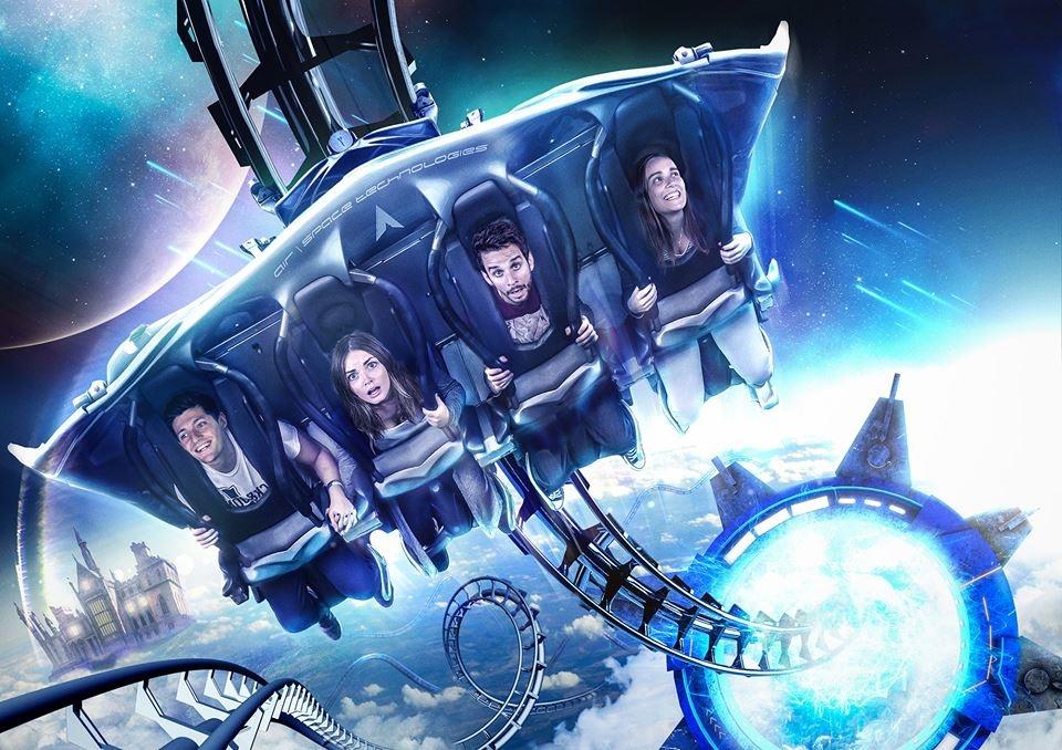 L'attraction réalité virtuelle le Galactica au Royaume-Uni