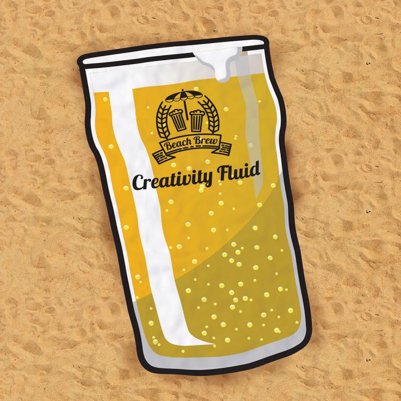 serviette de plage bière