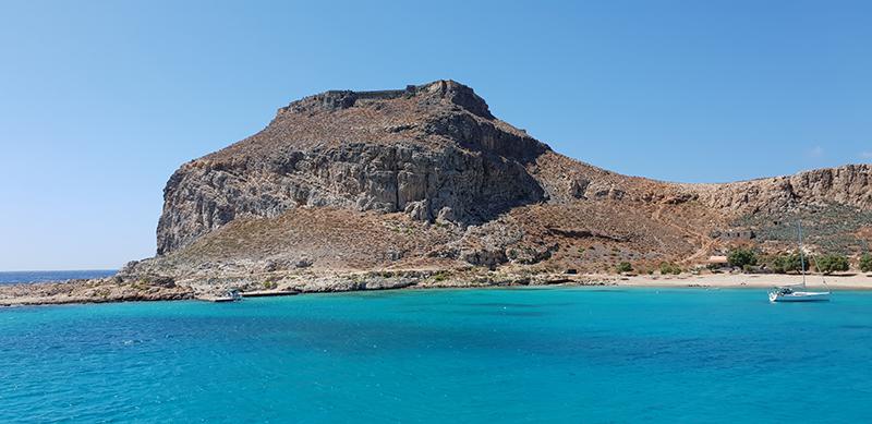 ile de Gramvoussa en Crète