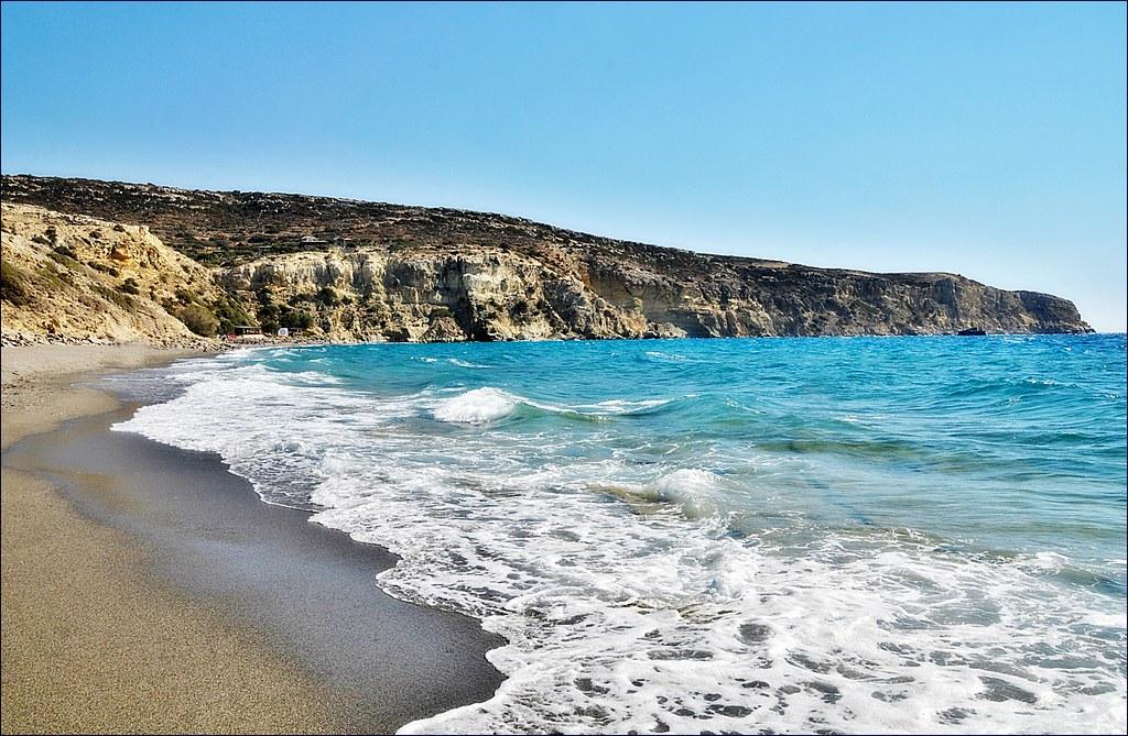 plage de Kommos en Crète