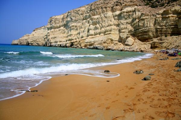 plage red beach en Crète