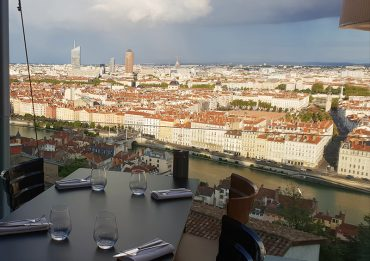 vue sur Lyon de la terrasse de l'Antiquaille