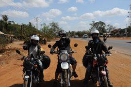 sur la route de Phnom Penh à Kampot