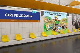asterix dans le métro à Paris