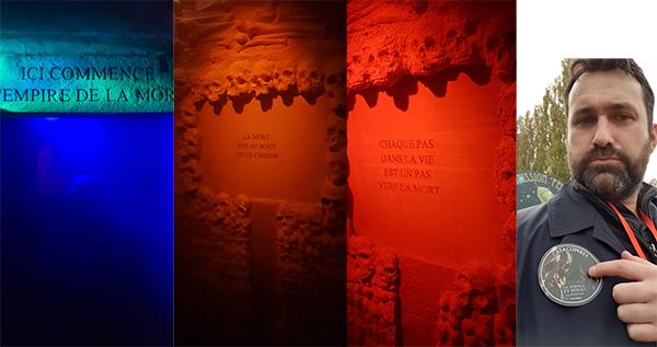 les catacombes au parc Astérix