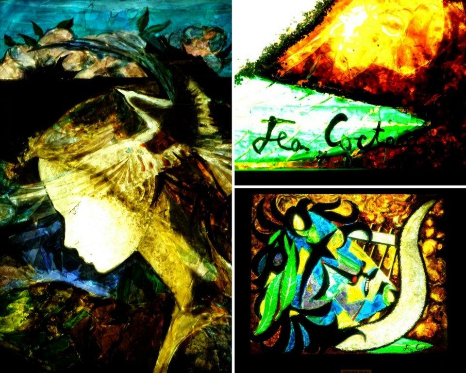 un tableau de Cocteau en gemmail