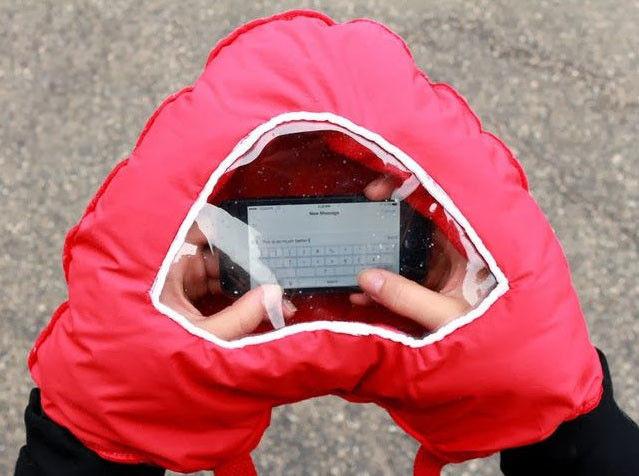 gant pour lire smartphone